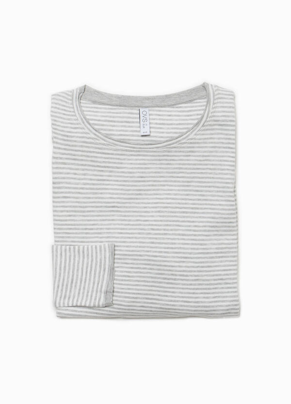 Pyjama top in 100% cotton with stripes | OVS