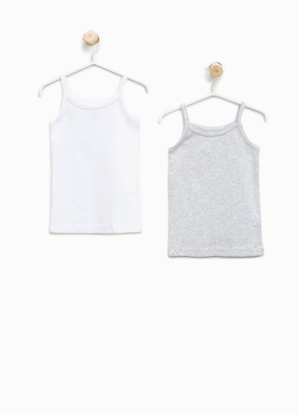 Set of two organic cotton under tops | OVS