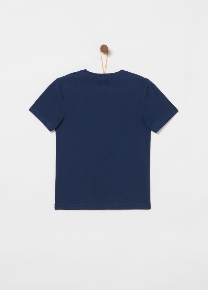 T-shirt jersey con costina tape e stampa