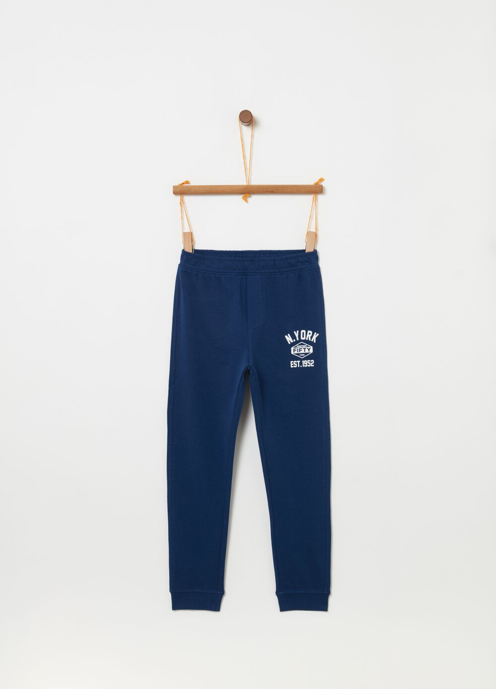 Trousers with pocket and New York print