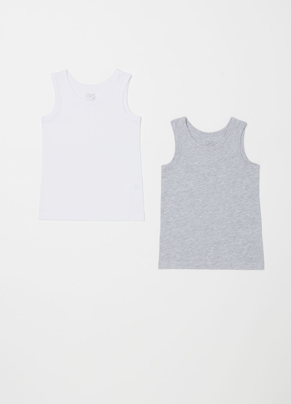 Set of two vests in 100% cotton