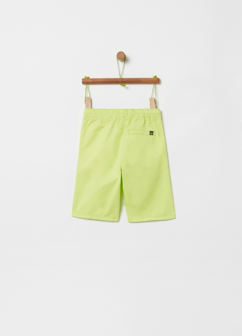 100% cotton Bermuda shorts with drawstring image number null