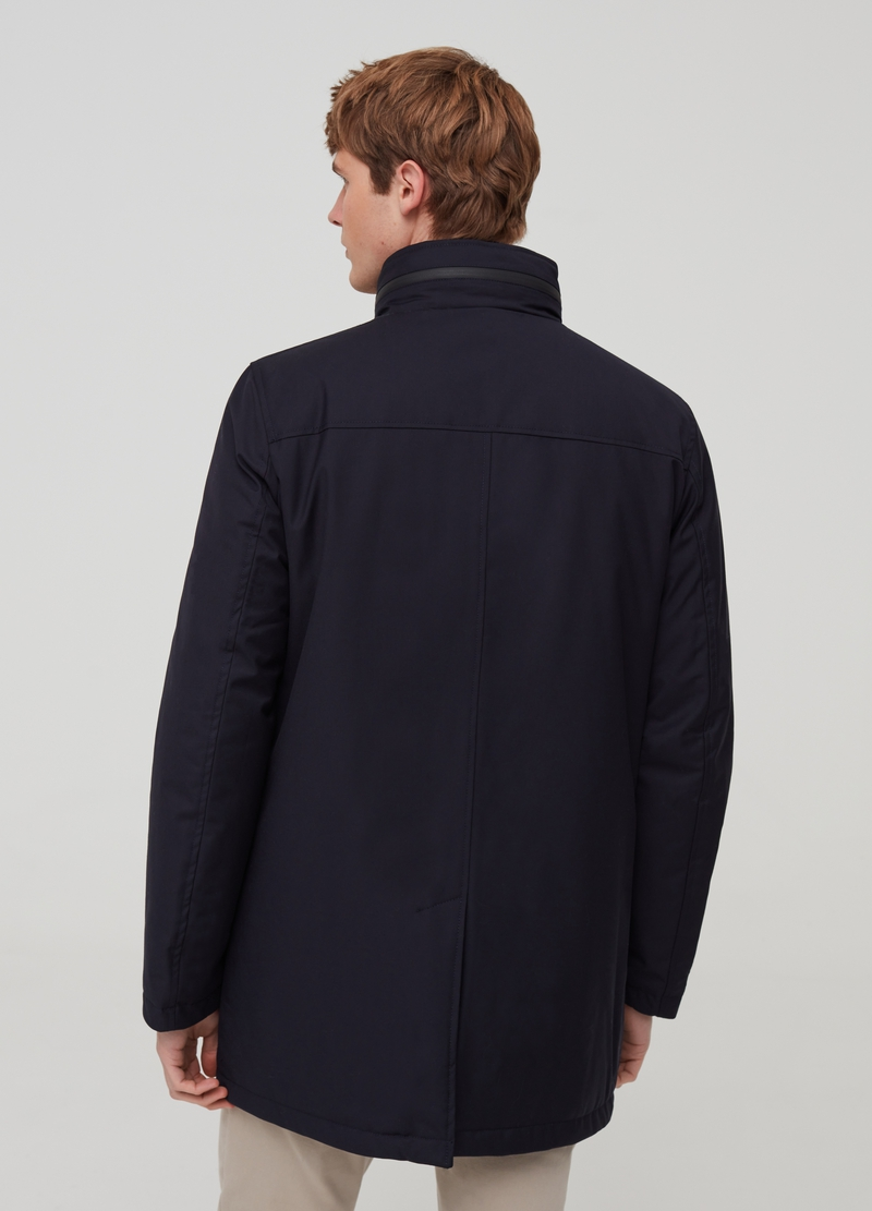 Padded jacket with concealed hood image number null