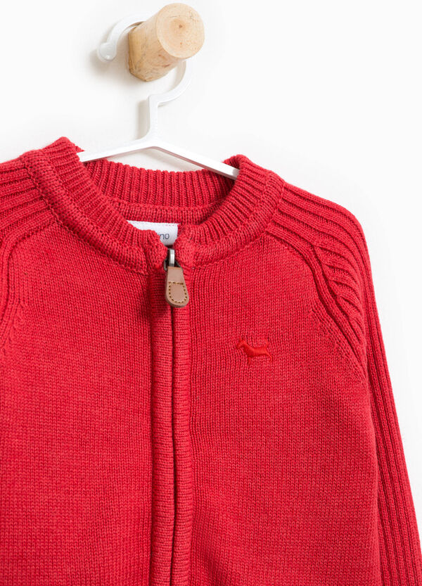 Cotton blend cardigan with zip | OVS