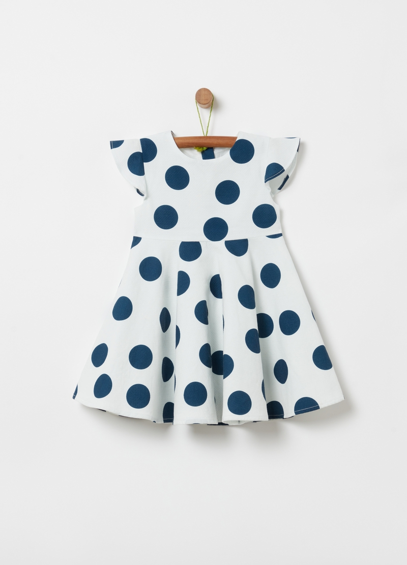 100% cotton polka dot dress image number null