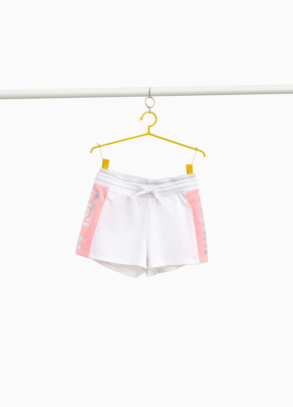 100% cotton shorts with bands and print