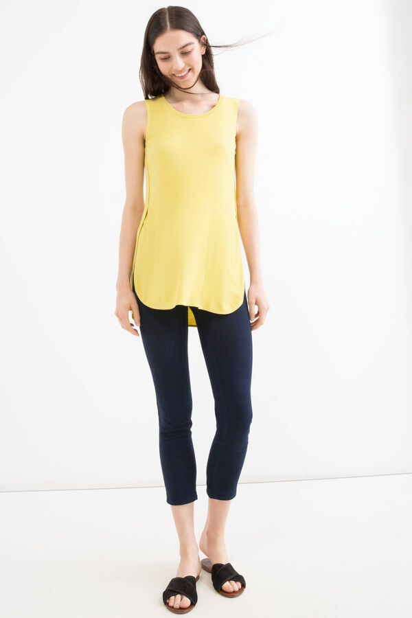 100% viscose top with slits