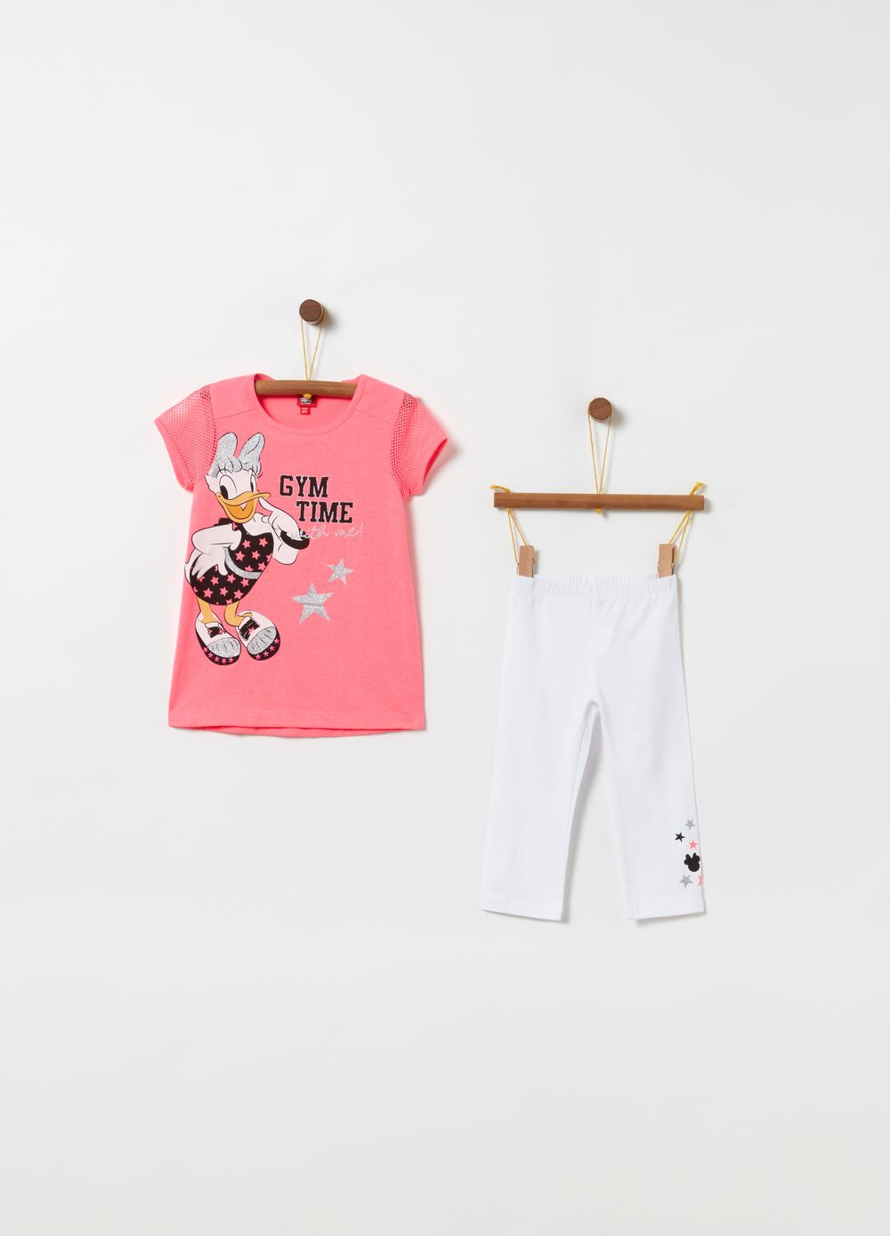 Jogging set t-shirt leggings glitter Disney