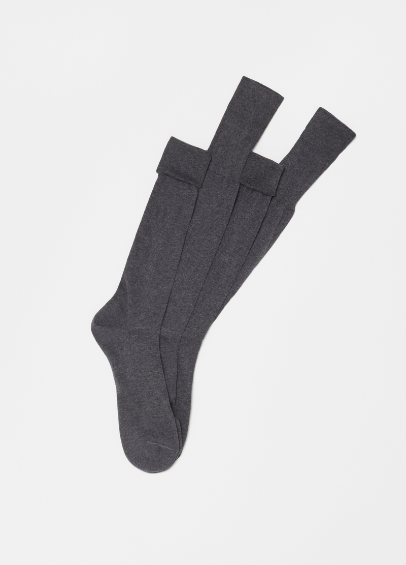 PIOMBO two-pair pack long socks in 100% cotton image number null