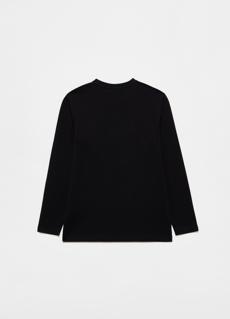 Solid-coloured long-sleeved T-shirt image number null