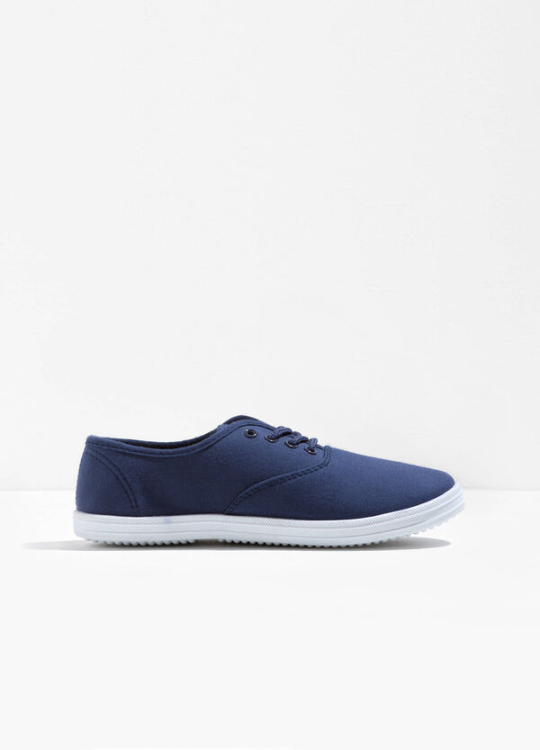 Canvas slip-ons with laces | OVS