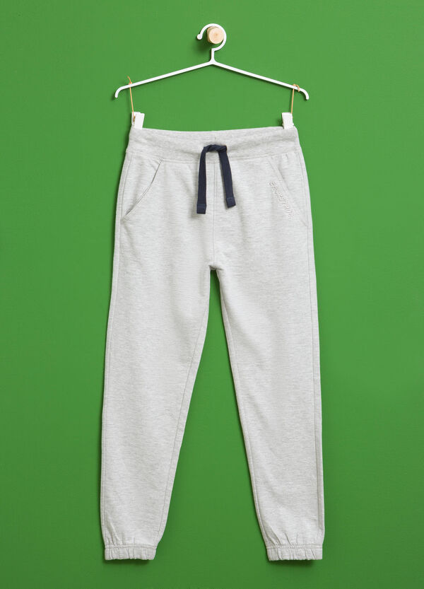 Printed cotton and viscose joggers | OVS