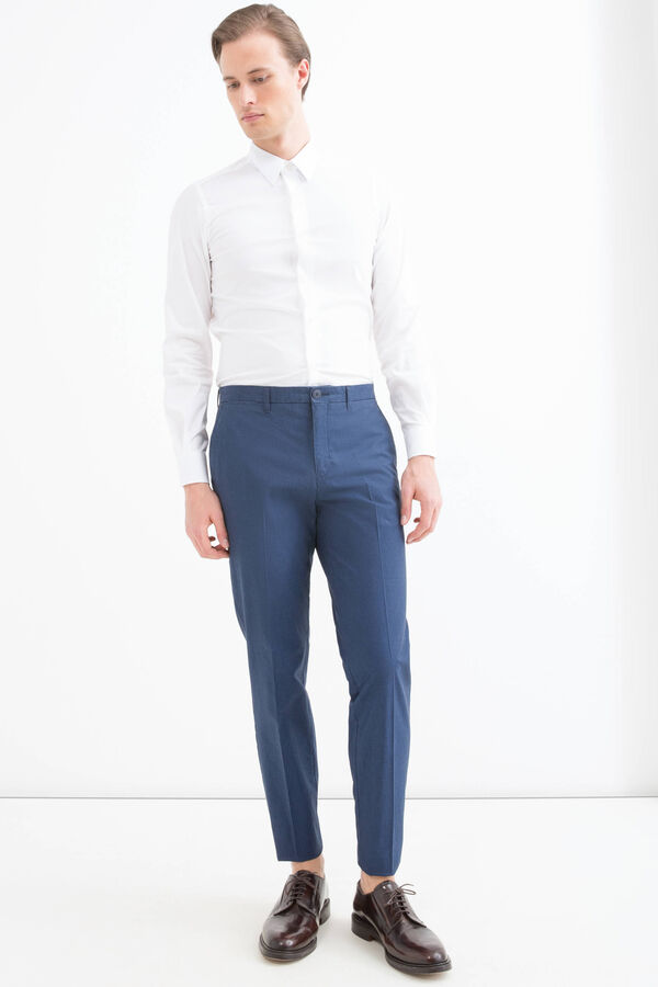 100% cotton trousers with crease