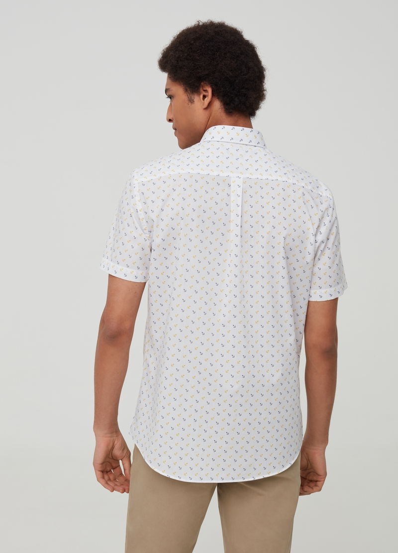 Shirt with anchor pattern image number null