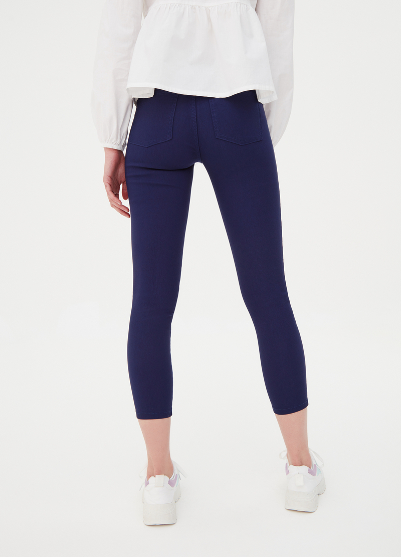High waist stretch jeggings image number null