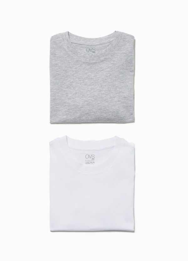Two-pack cotton undershirts