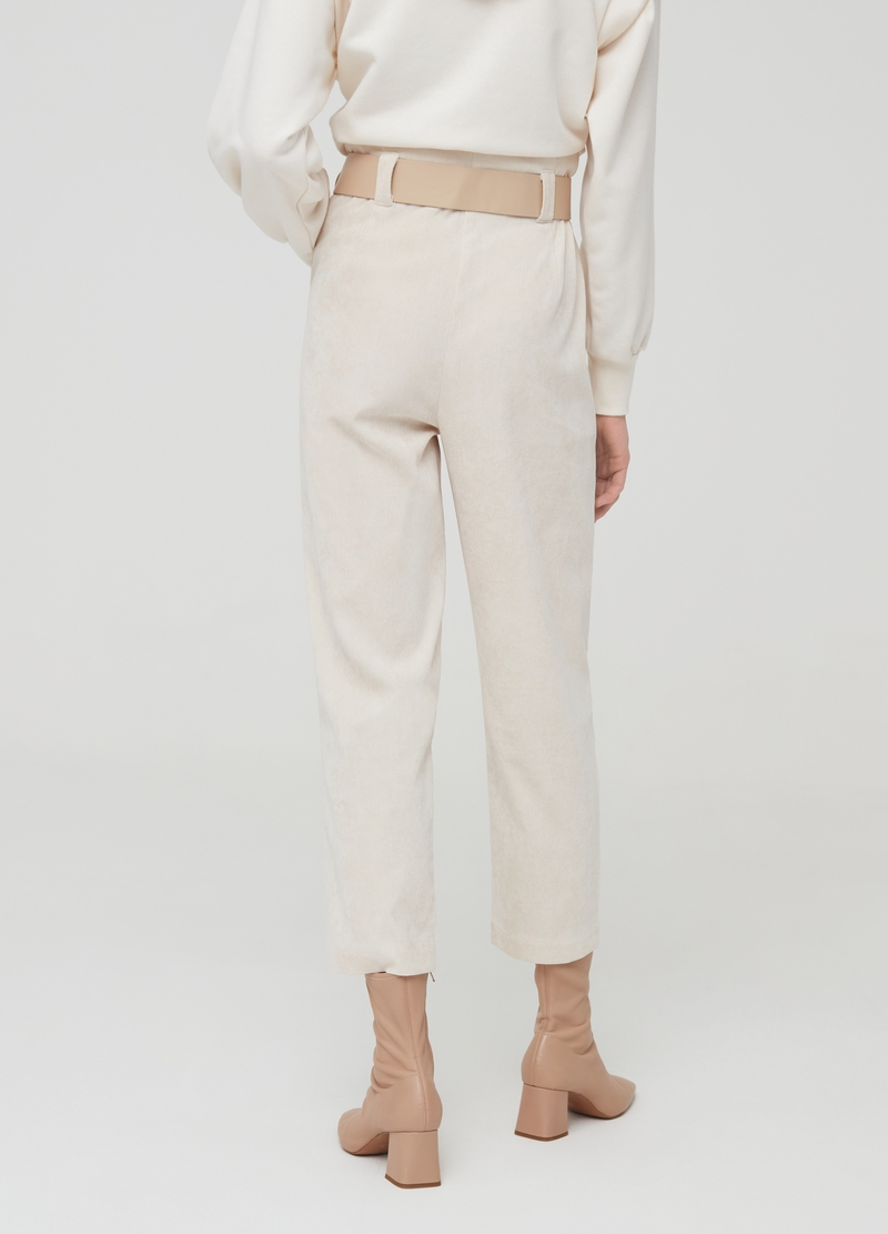 Crop trousers with high waist band image number null