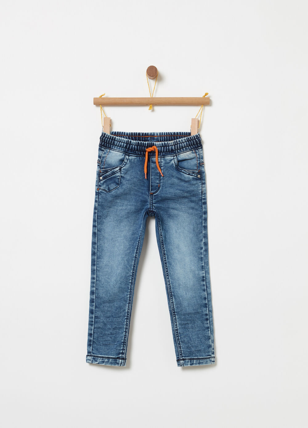 Pantalone jogger denim stretch