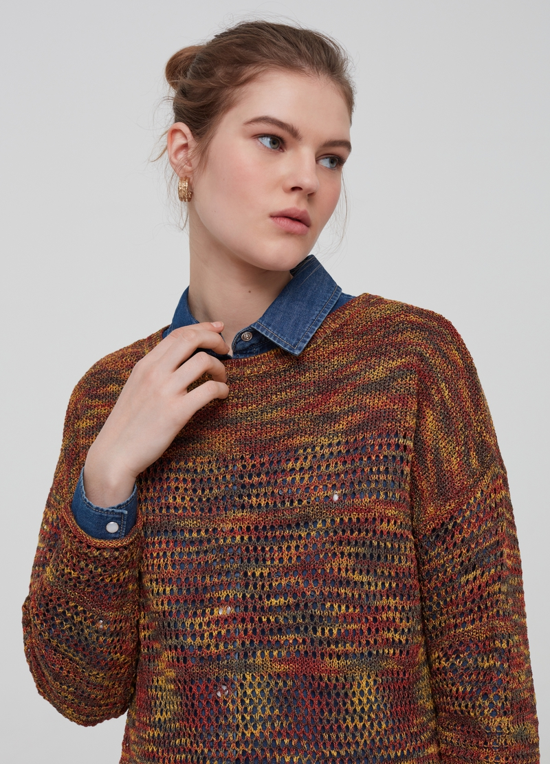 Multi-coloured knitted top image number null
