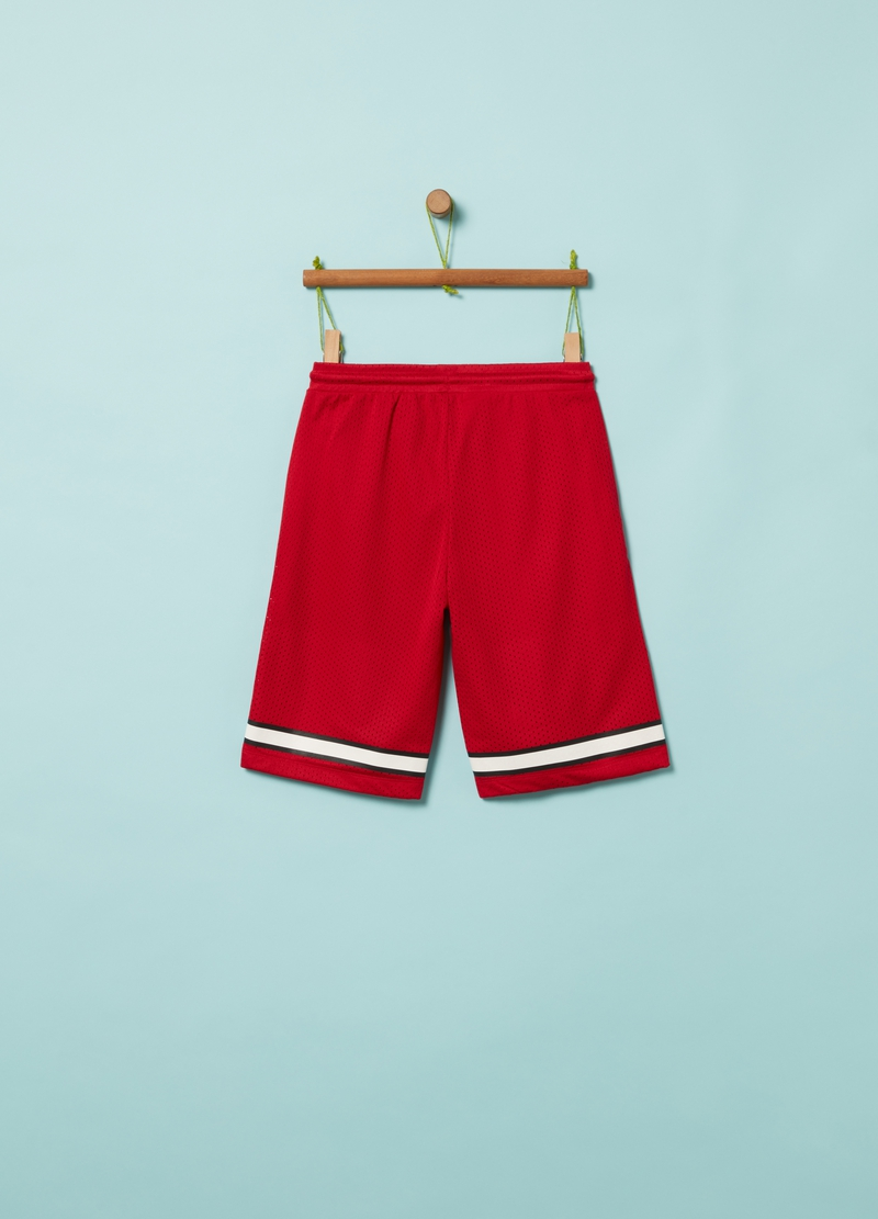 Lightweight Bermuda shorts with lettering print image number null