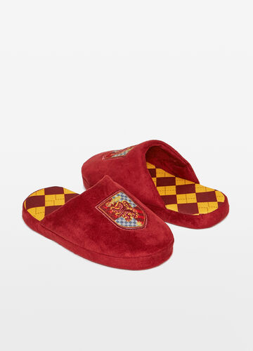 Harry Potter slippers with patch and diamond pattern
