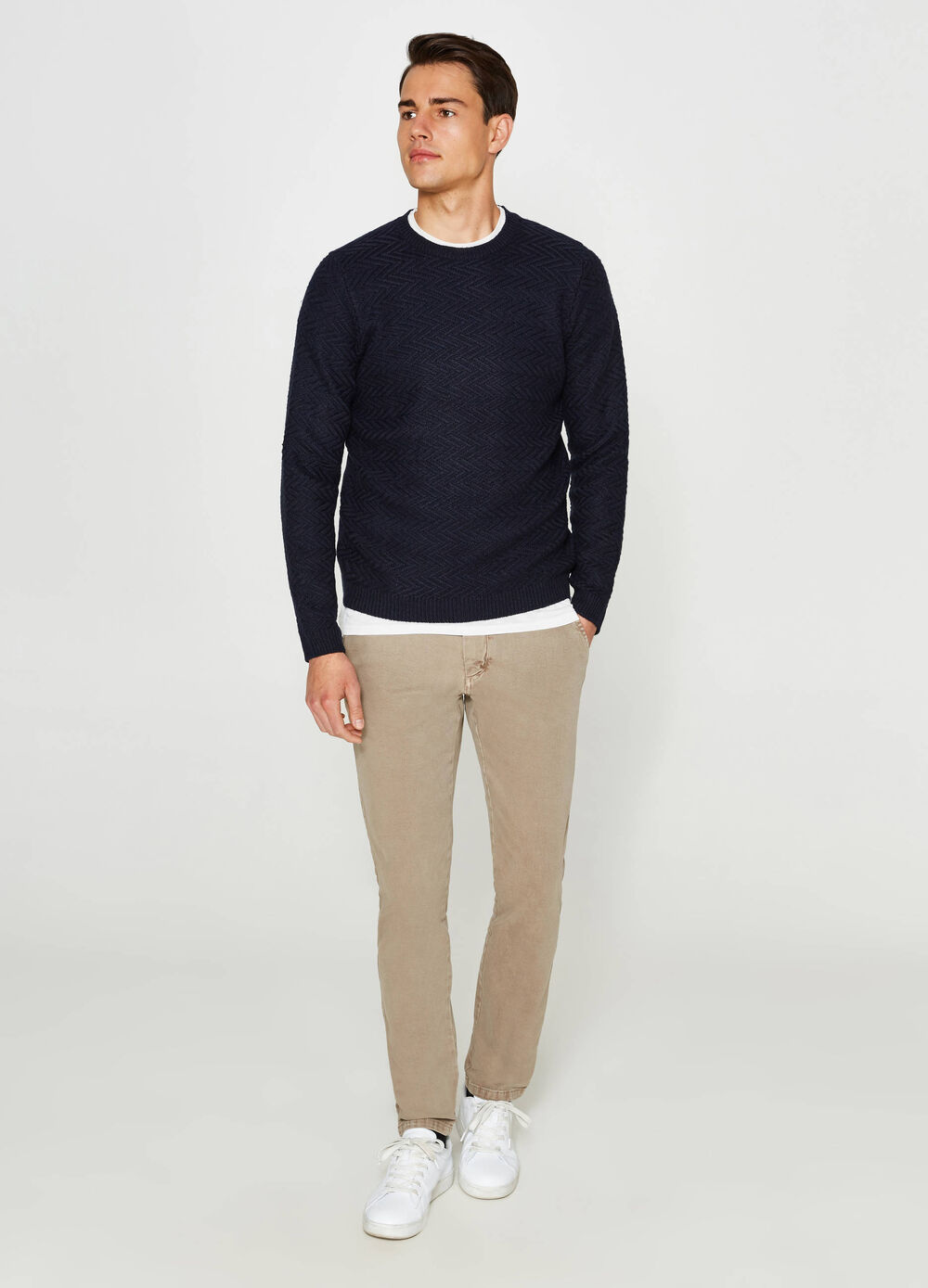 Regular-fit, stretch chino trousers