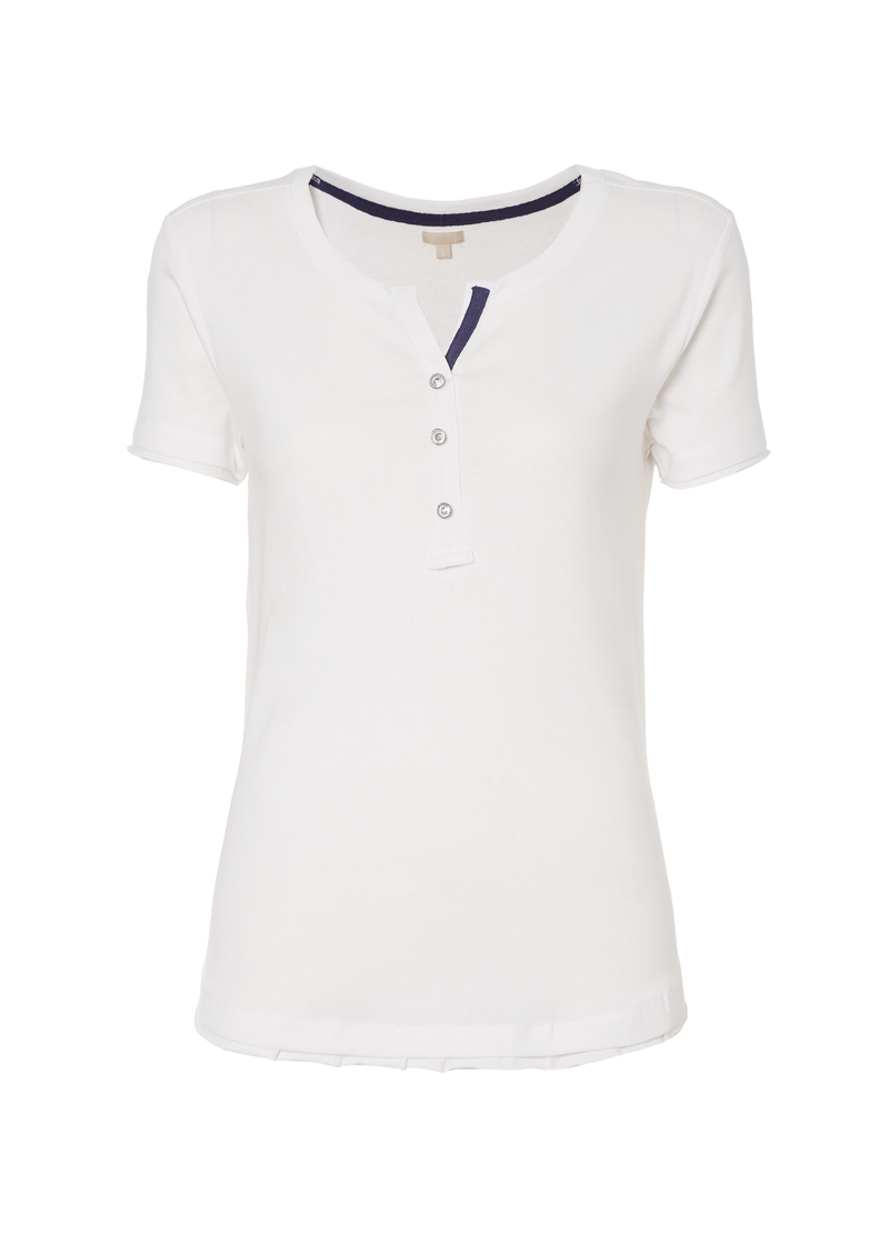 T-shirt bottoni strass Smart Basic image number null