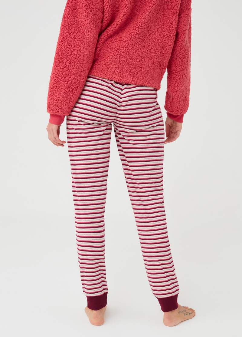 Striped pattern pyjama trousers image number null