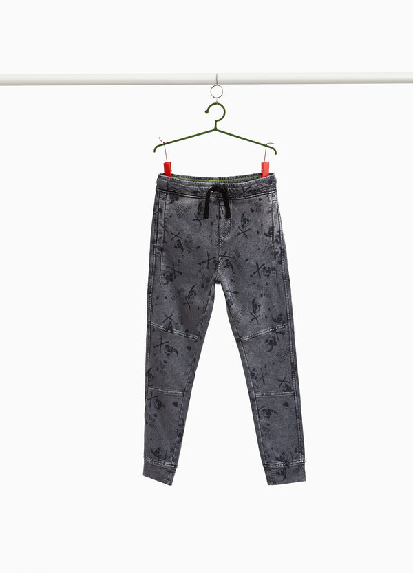 Misdyed joggers with all-over print