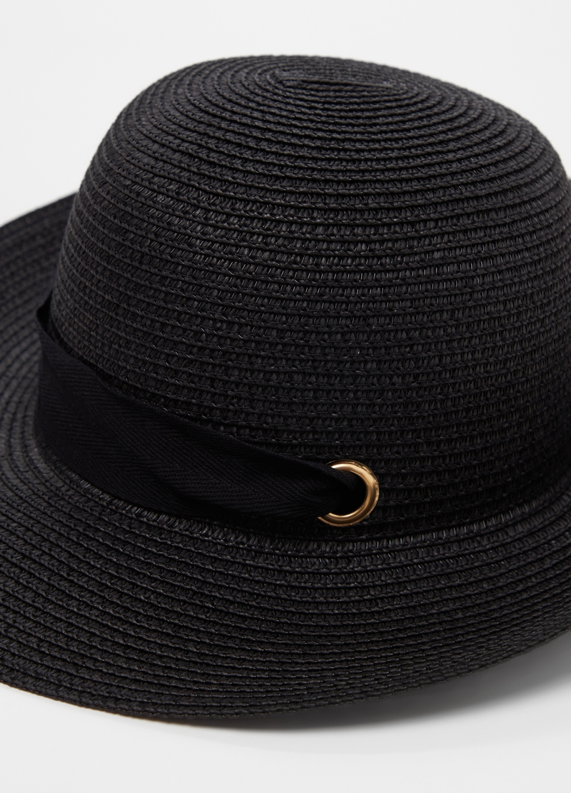 Straw hat with ribbon image number null