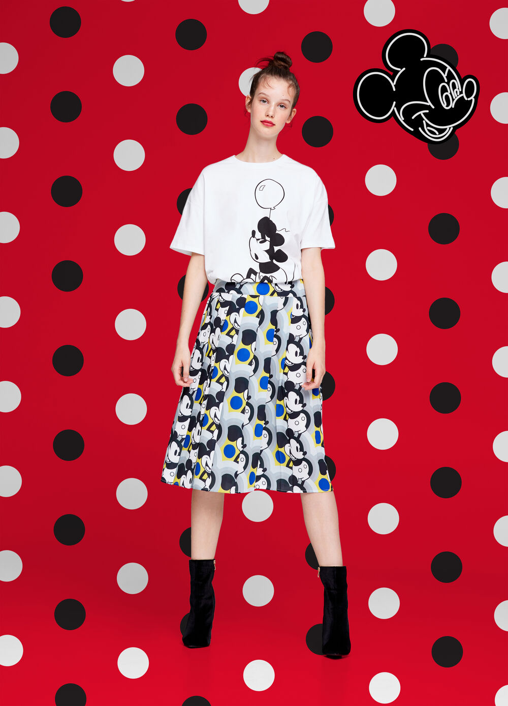 Mickey Mouse stretch skirt