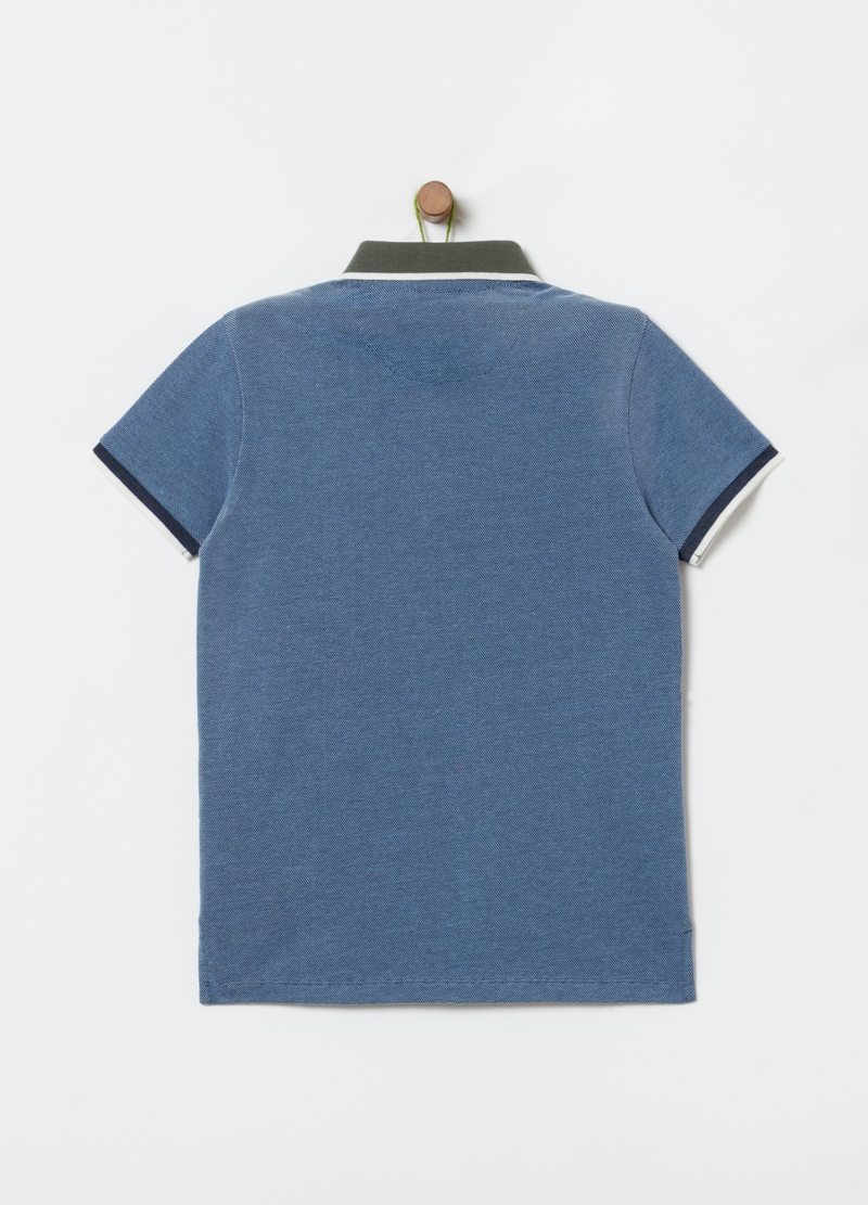 Mélange polo shirt in 100% cotton piquet image number null