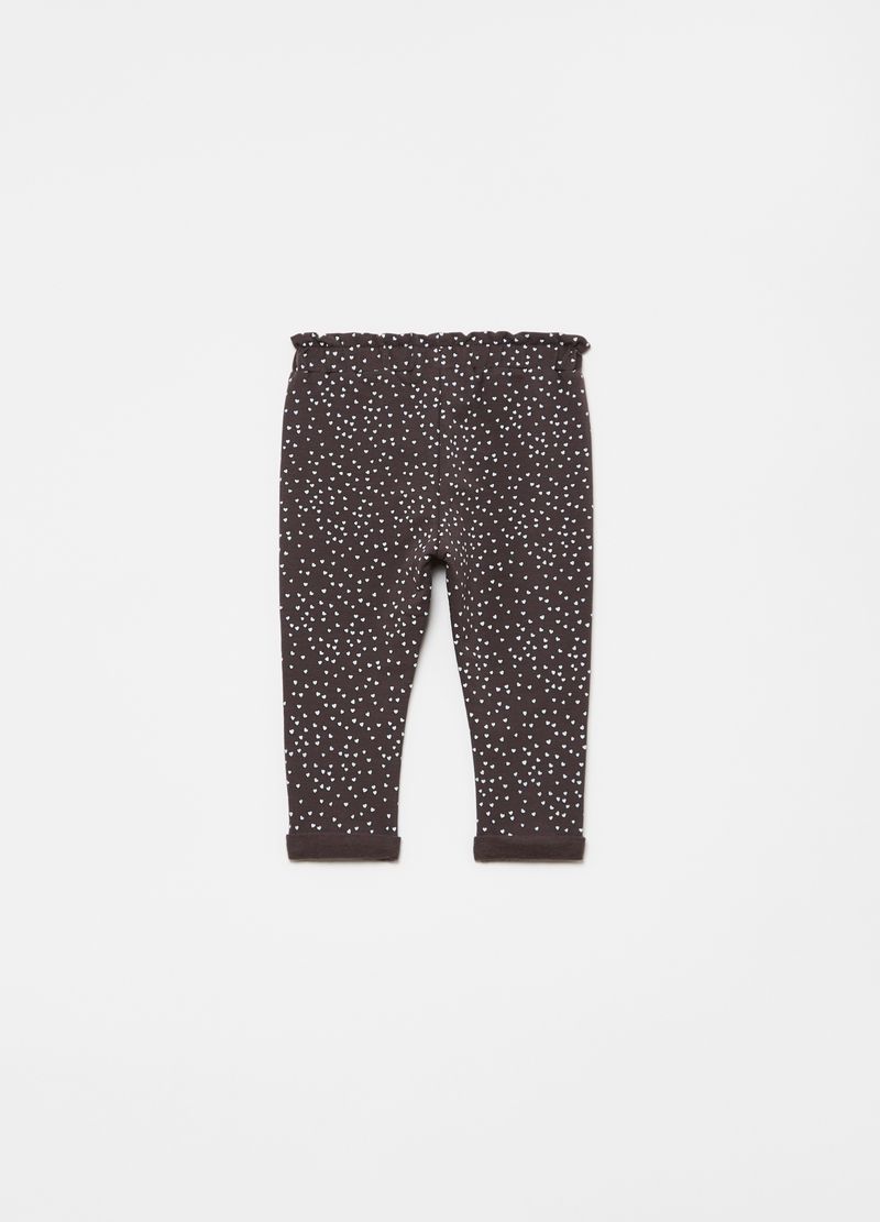 Joggers stampa cuoricini all-over image number null