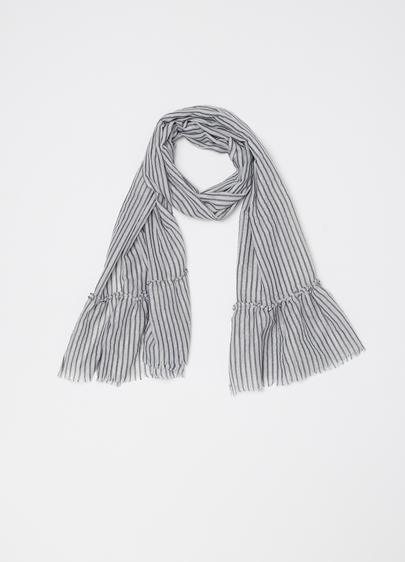 Pashmina with vertical stripes and lurex image number null