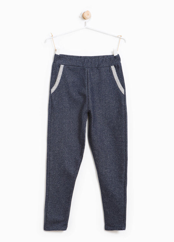 Cotton joggers with lurex | OVS