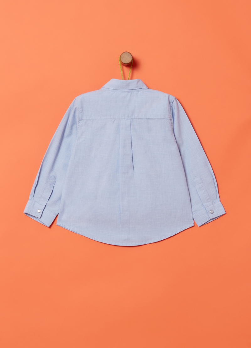 100% organic cotton shirt with tie image number null