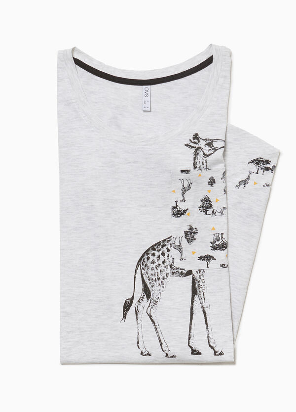 Nightdress with giraffe print