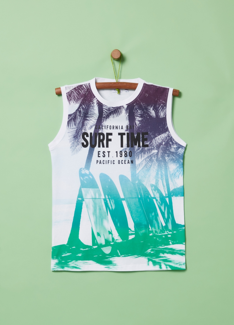 100% cotton tank top with print image number null
