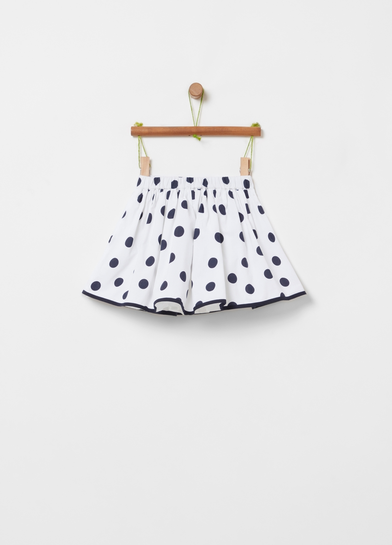 Short skirt with all-over polka dot print image number null
