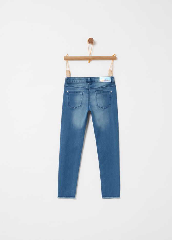 Denim superskinny fit con stampe