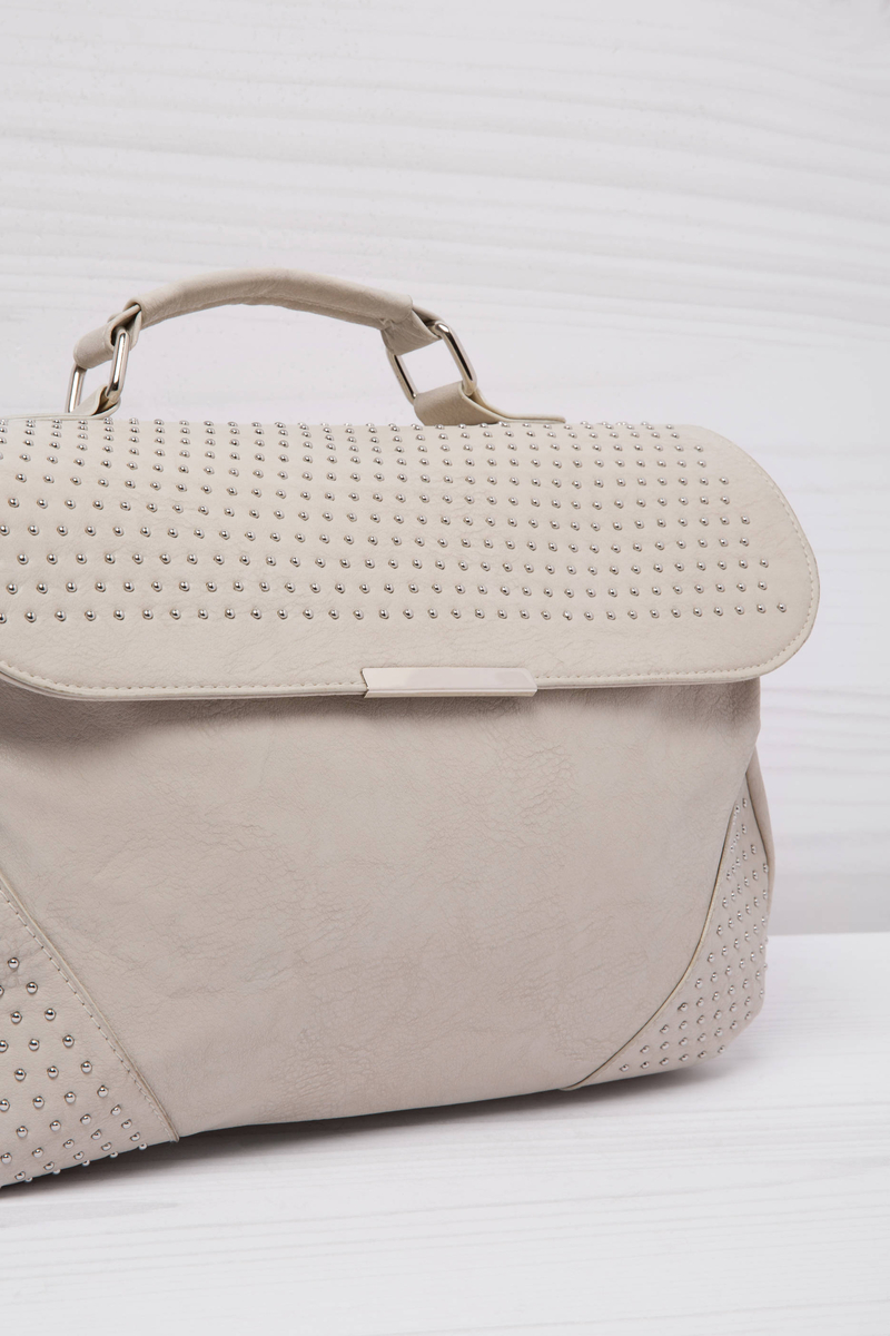 Borsa a mano similpelle borchiette image number null