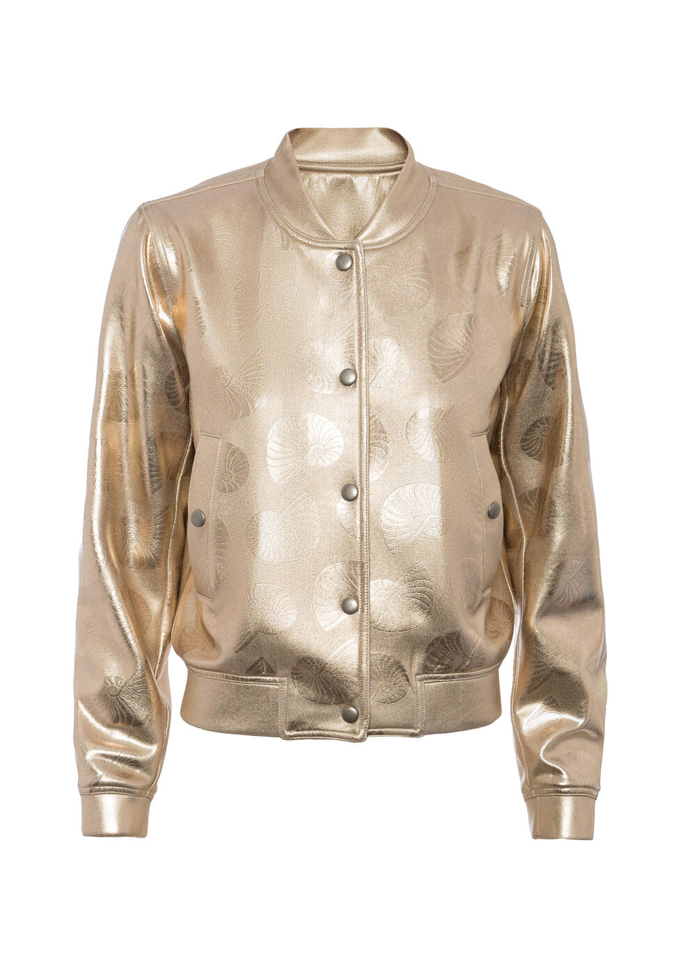 OVS Arts of Italy gold-coated bomber jacket