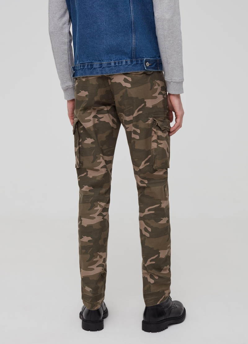 Camouflage cargo trousers image number null