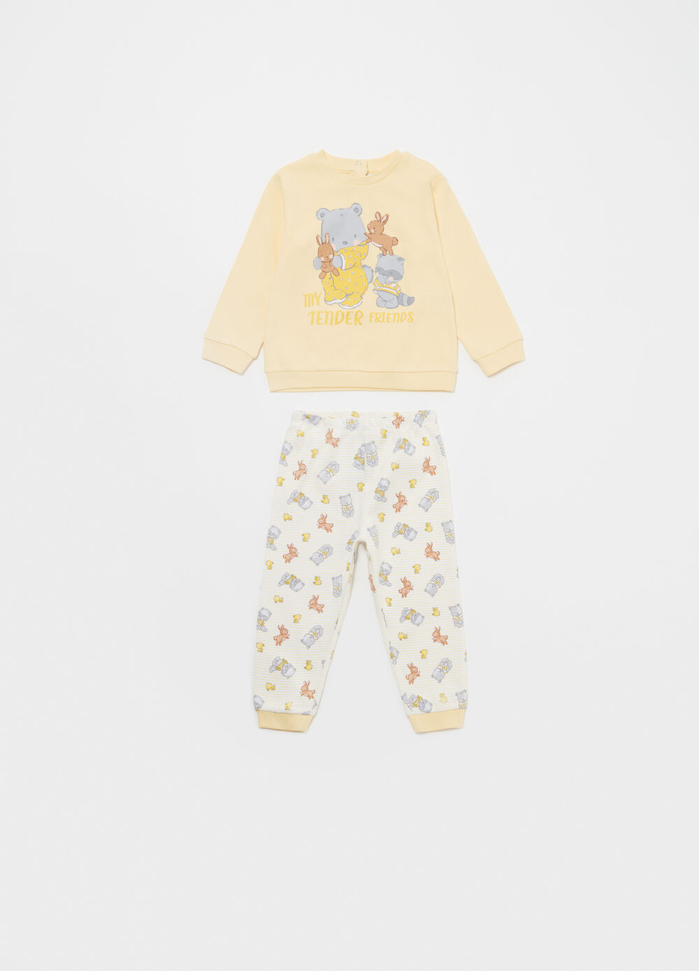 100% cotton pyjamas with animal pattern