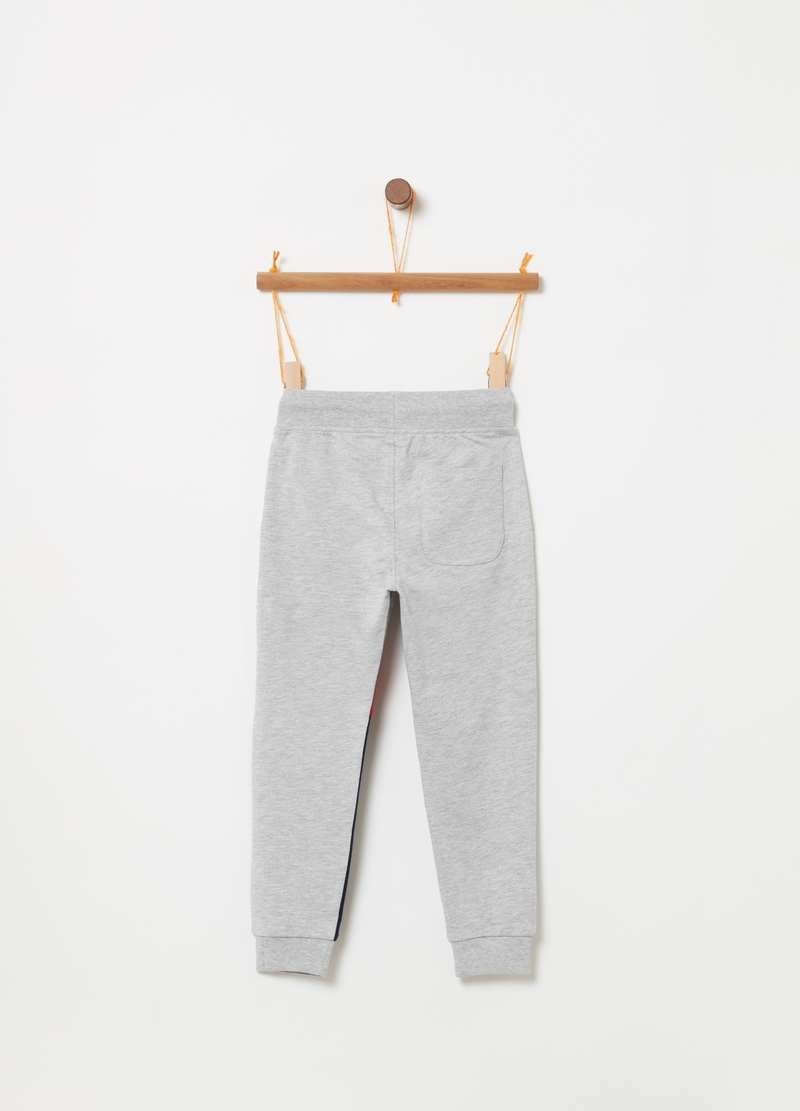 Pantaloni French Terry coulisse e stampa image number null