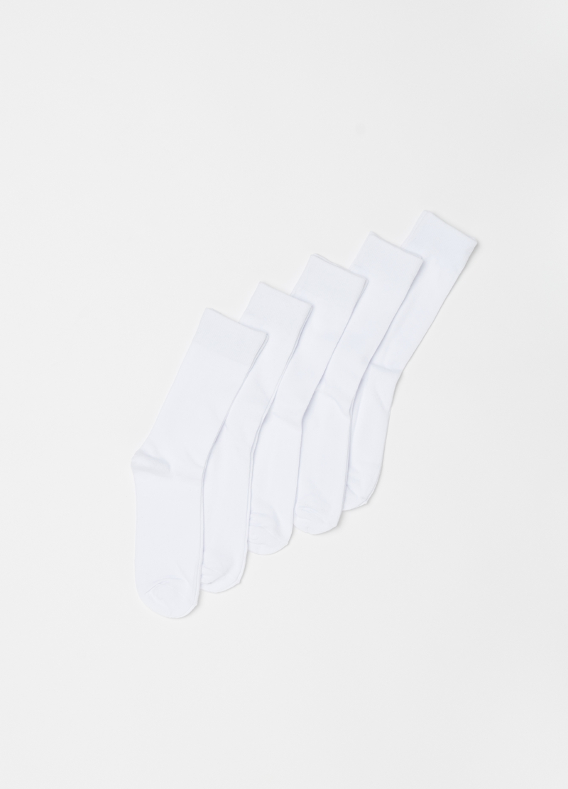 Five-pair pack midi socks in warm cotton image number null