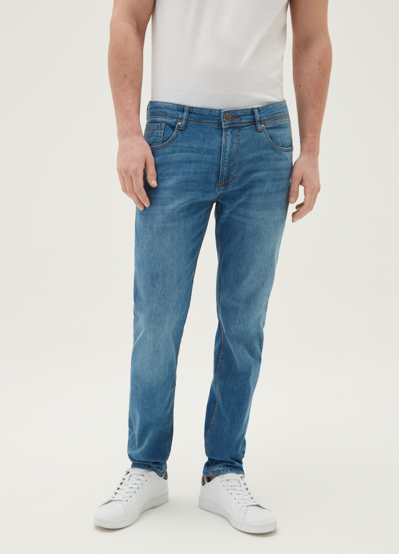 Jeans slim fit effetto maltinto image number null