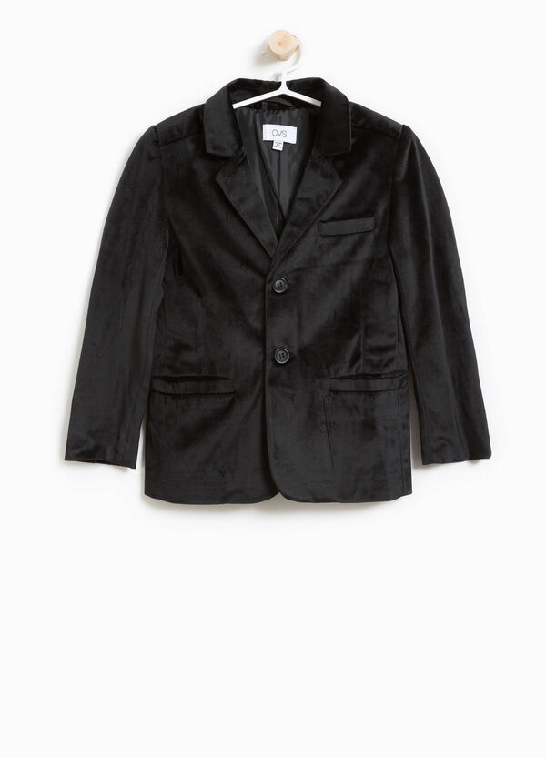 Two-button jacket in velvet | OVS