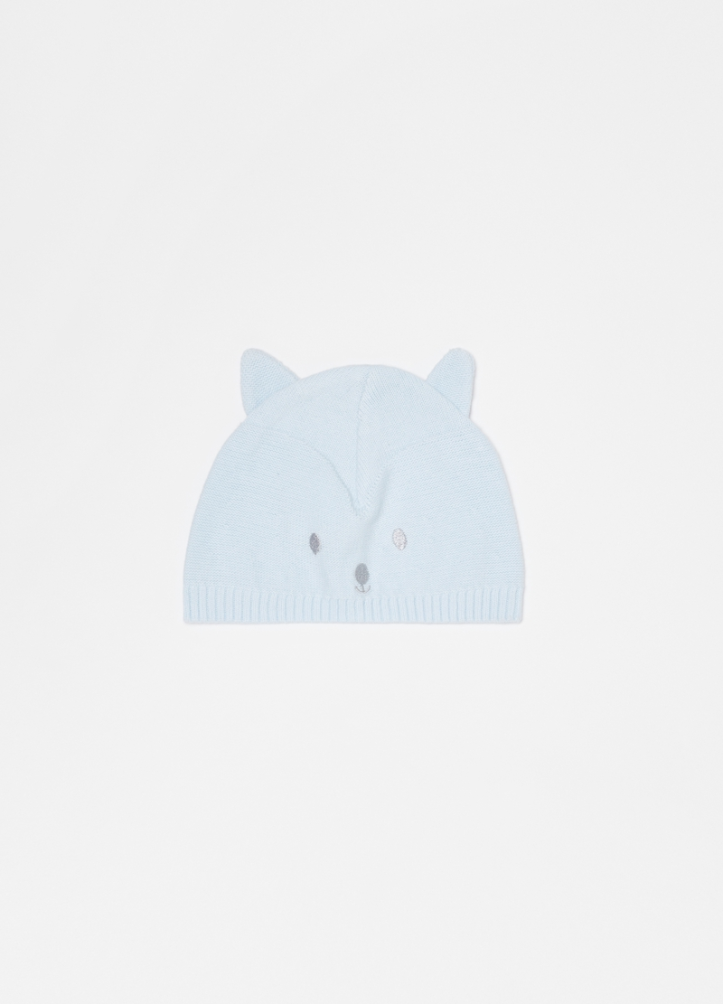 100% organic cotton hat with kitten ears image number null
