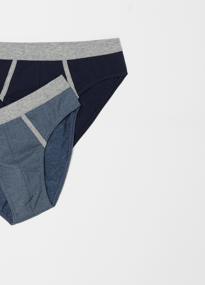 Two-pack patterned stretch briefs image number null